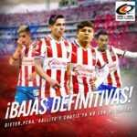 Chivas pone transferibles a Chofis López, 'Gallito' Vázquez y Alexis Peña.