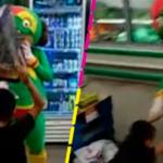 Botarga de Mamá Lucha se pelea con un niño; 'épica' batalla se hace viral.